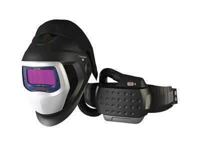 "3M 35-3301/20SW Adflo Belt-Mounted Universal Lithium Ion Organic Vapor Acid Gas High Efficiency PAPR System With Speedglas 9100 Air Welding Helmet And 5, 8 - 13 Shade 2.1"" X 4.2"" Speedglas 9100XX Auto Darkening Filter"