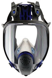 3M Large Ultimate FX Full Face Reusable Respirator With Scotchgard Lens Coating And Bayonet Connection