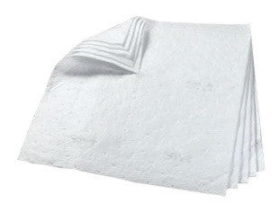 "3M 34"" X 38"" White Polypropylene And Polyester High Capacity Sorbent Pad"