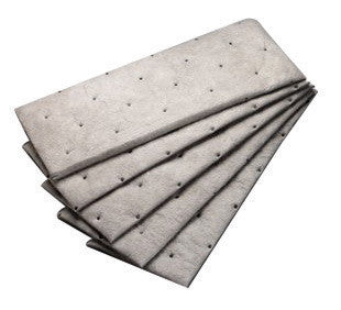 "3M 7 1/2"" X 20 1/2"" Light Gray Polypropylene And Polyester High Capacity Maintenance Sorbent Pad"