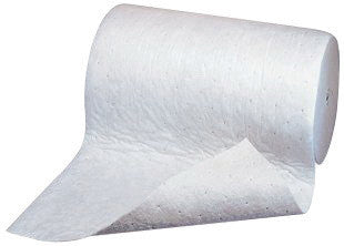 "3M 38"" X 150' Light Gray Polypropylene And Polyester High Capacity Maintenance Sorbent Roll"