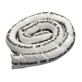 "3M 3"" X 4' Yellow Polypropylene And Polyester Sorbent Mini-Boom"