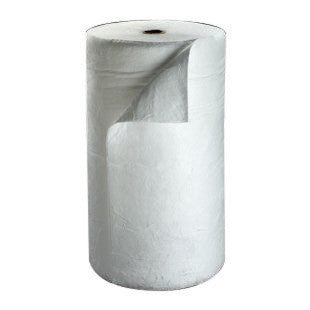 "3M 38"" X 144' White Polypropylene And Polyester Sorbent Roll"