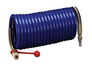 "3M 3/8"" X 25' Nylon High Pressure Industrial Interchange Coiled Supplied Air Hose (For Use With 3M High Pressure Compressed Air Systems)"