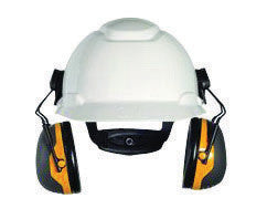 3M Peltor Black And Yellow Model X2P3E/37276(AAD) Cap Mount Hearing Conservation Earmuffs