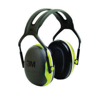3M Peltor Black And Chartreuse Model X4A/37273(AAD) Over-The-Head Hearing Conservation Earmuffs