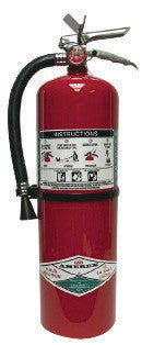 Amerex™ 11 Pound Halotron™ I 1A:10B:C Fire Extinguisher For Class A, B And C Fires With Chrome Plated Brass Valve, Wall Bracket, Hose And Nozzle