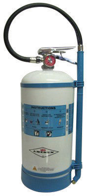 Amerex™ 1.75 Gallon De-Ionized Water 2-A:C Water Mist Fire Extinguisher For Class A And C Fires With Metal Valve, Non-Magnetic Wall Bracket, Hose And Wand