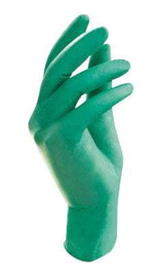 "Ansell Large Bright Green 9 1/2"" NeoTouch™ 5 mil Neoprene Ambidextrous Exam or Food Grade Powder-Free Disposable Gloves With Textured Finger Tip Finish And Rolled Beaded Cuff"