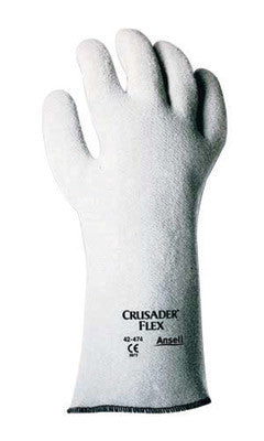 "Ansell Size 10 Gray Crusader™ Flex Heavy Weight Nitrile Non-Woven Felt Lined Heat Resistant Gloves With 10"" Gauntlet Slip-On Cuff"
