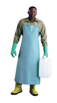 "Ansell 33"" X 44"" Green CPP 18 mil Vinyl Heavy Duty Chemical Protection Apron With Stomach Patch"