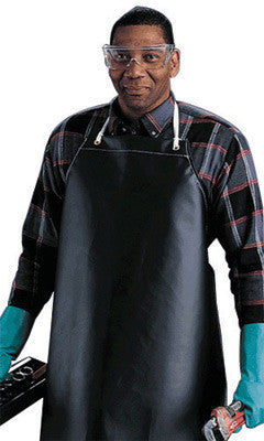 "Ansell 35"" X 45"" Black CPP 18 oz Hycar Heavy Weight Chemical Protection Apron"