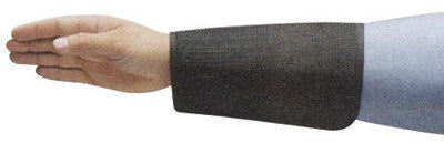 "Ansell Black 8"" CPP 2-Ply Cane Mesh Cut Resistant Sleeve With Velcro™ Closure"