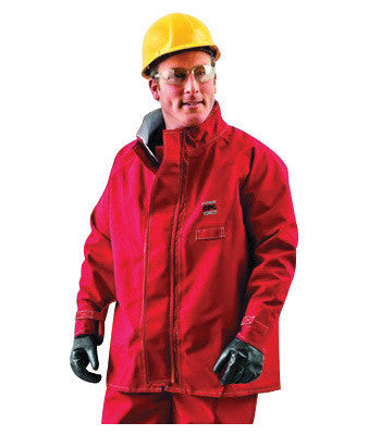 "Ansell 2X Red 30"" Sawyer-Tower CPC Polyester Trilaminate Gore™ Fabric Chemical Protection Jacket"
