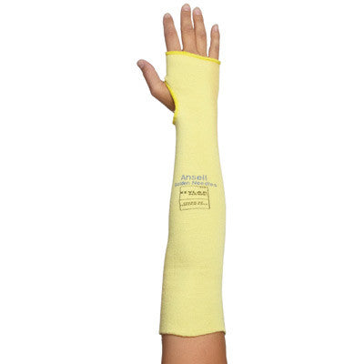 "Ansell 18"" Goldknit™ Medium Weight Kevlar™ Cut Resistant Knitted Sleeve With Thumb Slot"