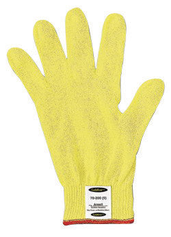 Ansell Size 7 Yellow GoldKnit™ Light Weight Aramid Synthetic Fiber Ambidextrous Cut Resistant Gloves With Knit Wrist And Kelvar™ Lined