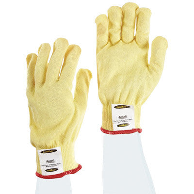 Ansell Size 7 Yellow GoldKnit™ Gunn Cut Medium Weight Cut Resistant Gloves With Knit Wrist And Kevlar™ Lined