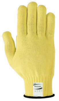Ansell Size 7 Yellow Vantage™ Heavy Weight Cut Resistant Gloves With Knit Wrist, Kevlar™ Lined, Reinforced DuPont™ Textured Yarn