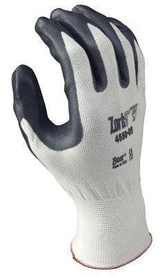 SHOWA Best™ Glove Size 8 Zorb-IT™ Cut Resistant Gray Nitrile Dipped Palm Coated Work Gloves With White Seamless Nylon And Polyester Knit Liner And Elastic Cuff