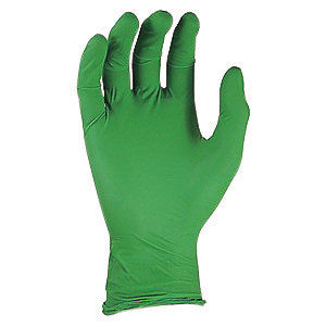 "SHOWA Best™ Glove X-Small Green 9 1/2"" GREEN-DEX™ N-DEX™ 4 mil Nitrile Ambidextrous Non-Sterile Powder-Free Disposable Gloves With Smooth Finish, Rolled Cuff And Polymer Coating(100 Each Per Box)"