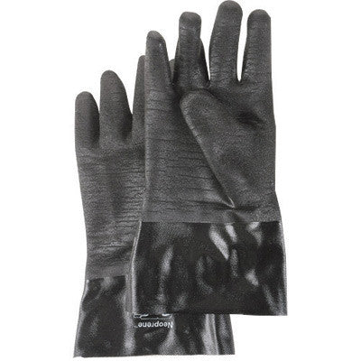 "SHOWA Best™ Size 10 Large Black Neo Grab 14"" Cotton Lined Neoprene Multi-Dipped Chemical Resistant Gloves With Rough Finish And Gauntlet Cuff"