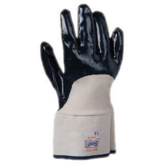 SHOWA Best™ Glove 7066 Nitri-Pro™ Heavy Duty Liquid Resistant Navy Nitrile Impregnation Palm Coated Work Gloves With White Cotton And Jersey Liner And Safety Cuff