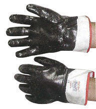 SHOWA Best™ Glove 7166R-10 Size 10 Nitri-Pro™ Heavy Duty Cut Resistant Navy Nitrile Fully Coated Work Gloves With Cotton And Jersey Liner And Safety Cuff