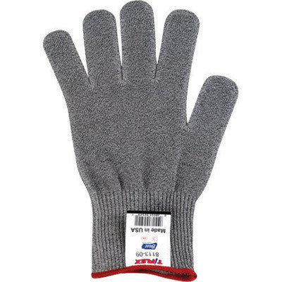 SHOWA Best™ Glove Size 8 Light Gray T-FLEX™ 13 gauge Light Weight Dyneema™ Ambidextrous Cut Resistant Gloves With Knit Wrist, Lycra™ Spandex™ Thermax™ Lined And AlphaSan™ Antimicrobial Treatment