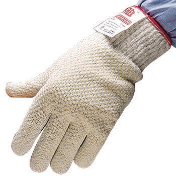 SHOWA Best™ Glove Size 8 White D-FLEX™ Dotted Style 10 gauge Light Weight Dyneema™ And Stainless Steel Ambidextrous Cut Resistant Gloves With Seamless Knit Wrist