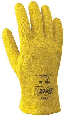 SHOWA Best™ Glove Size 9 KPG™ Light Weight Abrasion Resistant Yellow PVC Fully Coated Work Gloves With Seamless Cotton Knit Liner And Slip-On Cuff