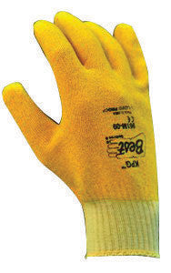 SHOWA Best™ Glove Size 9 KPG™ Light Weight Abrasion Resistant Yellow PVC Fully Coated Work Gloves With Cotton Knit Liner And Continuous Knit Wrist
