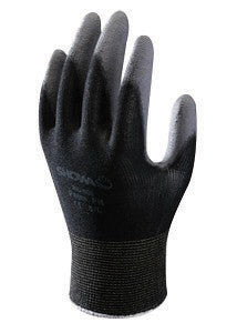 SHOWA Best™ Glove Small SHOWA™ 13 Gauge Abrasion Resistant Dark Gray Polyurethane Palm Coated Work Gloves With Black Seamless Nylon Knit Liner And Knit Wrist