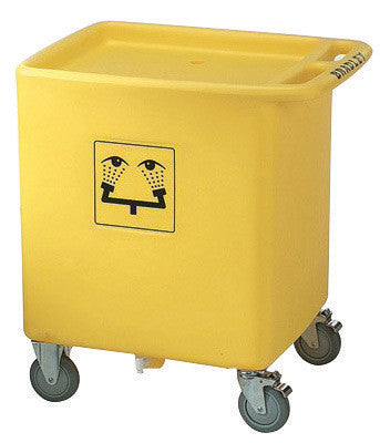 "Bradley™ 33"" X 29 3/4"" X 22 1/8"" On-Site™ Portable Waste Cart For S19-921 Eye Wash Station"