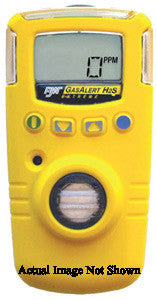 BW Technologies Yellow Extended Range GasAlert Extreme Portable Hydrogen Sulphide Monitor With 3 V Li-Ion Battery, Data Logging And Internal Vibrating Alarm