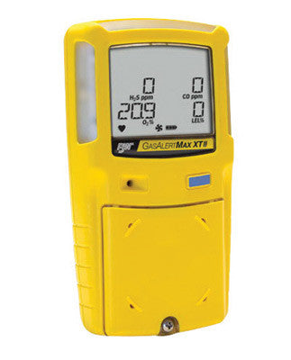 BW Technologies Yellow GasAlertMax XT II Portable Combustible Gas, Hydrogen Sulphide And Oxygen Monitor With Rechargeable Battery