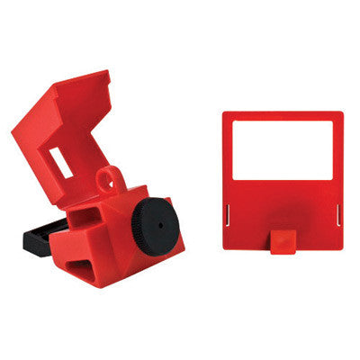 Brady™ Red Impact Modified Nylon And Polypropylene 480/600 V Clamp-On Circuit Breaker Lockout