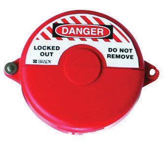 "Brady™ Red Injection Molded Polypropylene Small Gate Valve Lockout With 3/8"" Shackle"