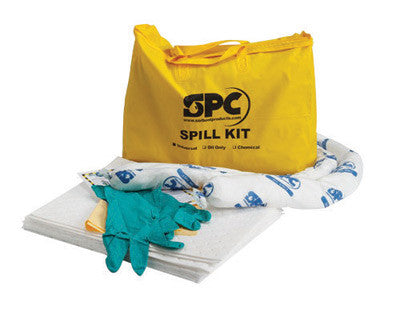 "Brady™ 20"" X 16"" X 4"" Bag SPC Hazwik™ Hi-Viz Yellow PVC Economy Portable Spill Kit"