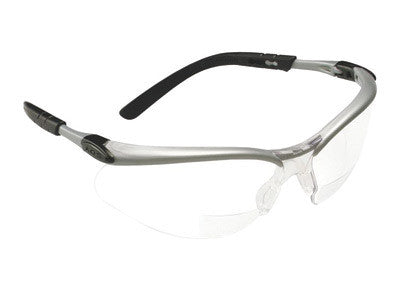 3M BX 1.5 Diopter Safety Glasses With Silver Black Nylon Frame And Clear Polycarbonate Anti-Fog Lens