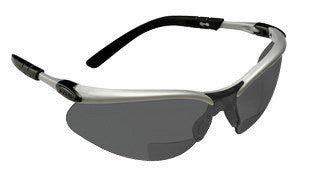 3M BX 2.5 Diopter Safety Glasses With Silver Black Nylon Frame And Gray Polycarbonate Anti-Fog Lens