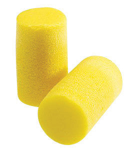 3M Large Single Use Classic Classic Plus Cylinder Shape PVC Foam Uncorded Earplugs (1 Pair Per Pillow Pack, 200 Pair Per Box)