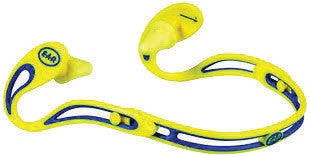 3M E-A-R Swerve Blue And Yellow ABS And Polyurethane Hearing Conservation Banded Earplugs