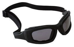 3M 2X2 Maxim Impact Goggles With Black Full Frame, Gray Anti-Fog Lens, Elastic Strap And Air Bladder Cushion