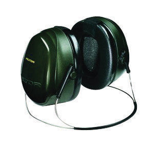 3M Peltor Optime 101 Black And Green ABS Behind-The-Head Hearing Conservation Earmuffs