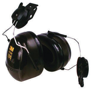 3M Peltor Optime 101 Black And Green ABS Helmet Mount Hearing Conservation Earmuffs