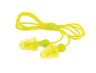 3M Multiple Use Peltor NEXT Tri-Flange Triple-Flange Elastomeric Polymer Corded Earplugs With Vinyl Cord And LiveWire Stem (100 Pair Per Box)