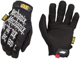Mechanix Wear™ Black The Original™ Full Finger Synthetic Leather Mechanics Gloves With Hook And Loop Cuff, Spandex™ Back, Synthetic Leather Palm And Fingertips And Reinforced Thumb