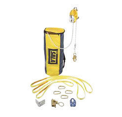 DBI/SALA™ 100' Rollgliss R500 Rescue and Escape Descent Device Kit (Includes 3 Anchor Slings, 4 Carabineers, Pulley, Edge Protector, Rope Grab And Carry Bag)