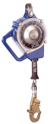 "DBI/SALA™ 15' Sealed-Blok Self-Retracting 3/16"" Galvanized Steel Wire Rope Lifeline With Swivel Snap Hook With Impact Indicator And Anchorage Carabiner"