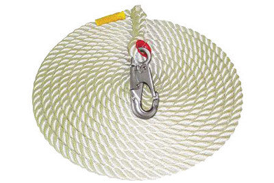 "DBI/SALA™ 100' Vertical 5/8"" Nylon Rope Lifeline With AJ514A Carabiner"